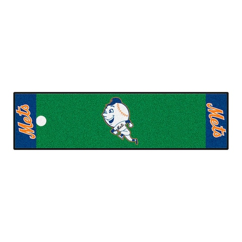 MLB - New York Mets Retro Collection Putting Green Mat - 1.5ft. x 6ft. - (2014) - 1.5ft. X 6ft.