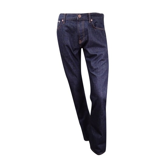 83e3c8f6 Shop Tommy Hilfiger Men's Selevedge Straight-Fit Jeans (34x34, Dark Wash) - Dark  Wash - 34X34 - Free Shipping On Orders Over $45 - Overstock - 17605518