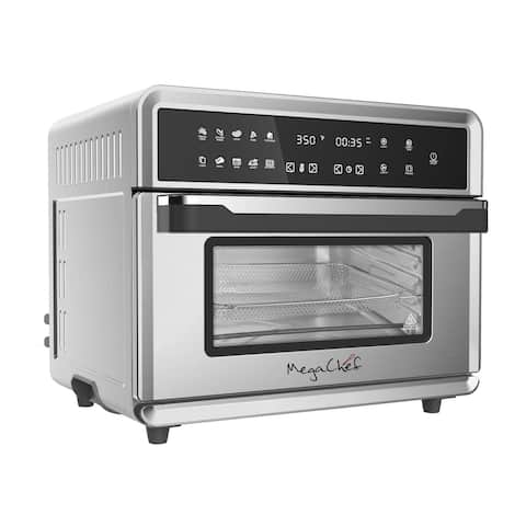 MegaChef 10 in 1 Electronic Multifunction 360 Degree Hot Air Technology Countertop Oven