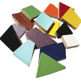 Mosaic Mercantile Ceramic Crafters Cut, Assorted Colors, 3 lb