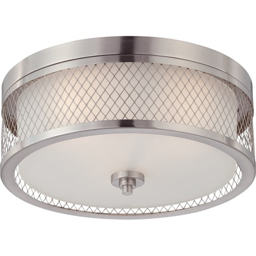 "Nuvo Lighting 60/4691 Fusion 3 Light 15"" Wide Flush Mount Drum Ceiling Fixture"