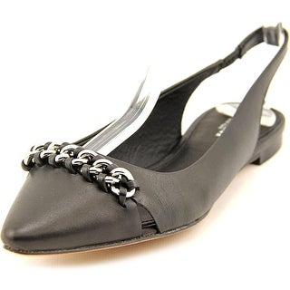 Coach Rodney Women Pointed Toe Leather Black Slingback Heel