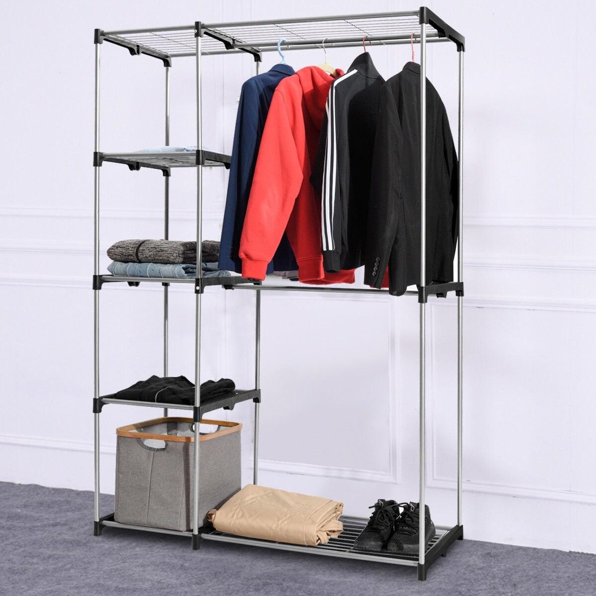 Portable Closet Organizer Storage Rack Clothes Hanger