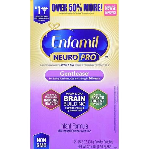 Enfamil NeuroPro Non GMO Infant Formula Gentlease 30.4 oz. - purple gentlease - 30.4 oz.