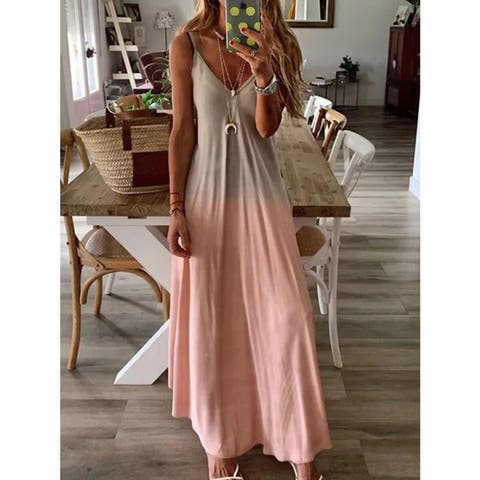 Ombre Maxi Dress, Multiple Colors Available, S-2X