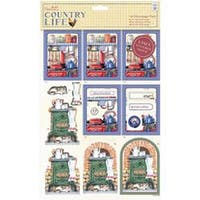 Country Kitchen; Linen Finish - Papermania Country Life A4 Decoupage Pack