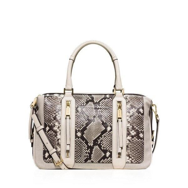 b52fcf58578b Shop MICHAEL Michael Kors Womens Julia Satchel Handbag Leather Snake Print  - MEDIUM - Free Shipping Today - Overstock - 16754628