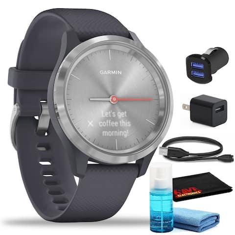 Garmin vivomove 3S Hybrid Smartwatch (39mm, Silver/Granite Blue)
