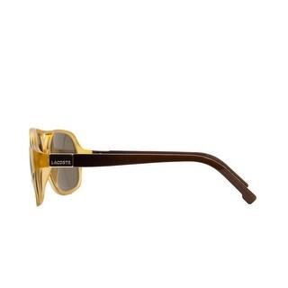 Lacoste L 502S 252 Amber/Brown Modified Aviator Sunglasses