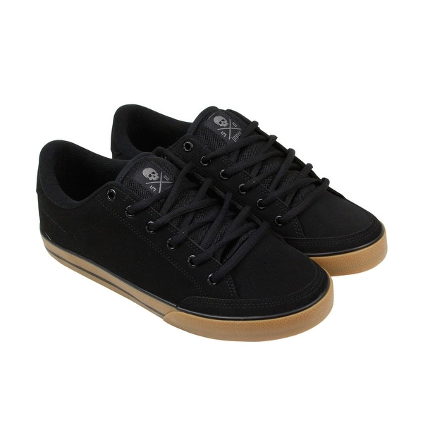 C1RCA Lopez 50 Mens Black Nubuck Lace Up Sneakers Shoes