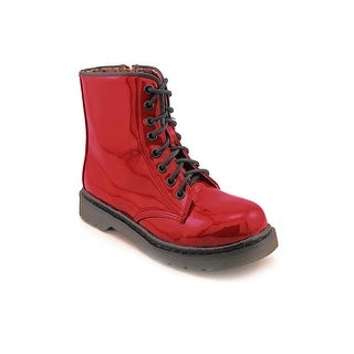 Dirty Laundry Machine Women Round Toe Synthetic Red Ankle Boot