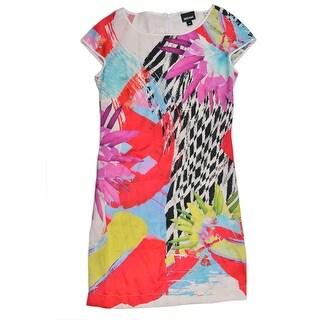 Roberto Cavalli Womens Multicolored Silk Abstract Print Dress - 4