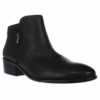 Aerosoles Mythology Double Zipper Ankle Boots, Black