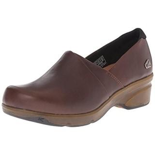 Keen Womens Mora Leather Slip On Clogs - 6 medium (b,m)