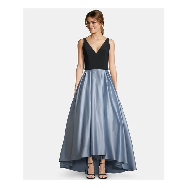 BETSY & ADAM Light Blue Sleeveless Maxi Hi-Lo Dress Size 8P. Opens flyout.