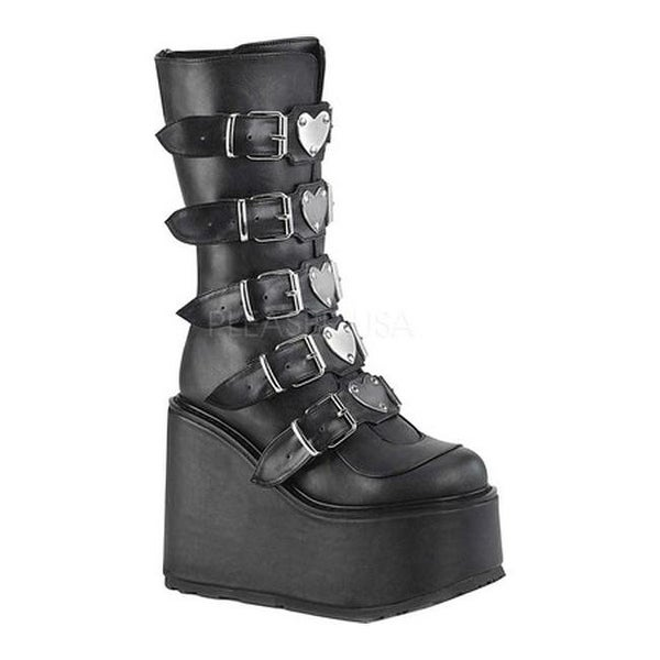 514c6e1921c Shop Demonia Women's Swing 230 Platform Mid-Calf Boot Black Vegan Leather -  Free Shipping Today - Overstock - 26410104