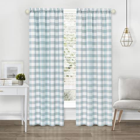 Hunter Rod Pocket Window Curtain Panel