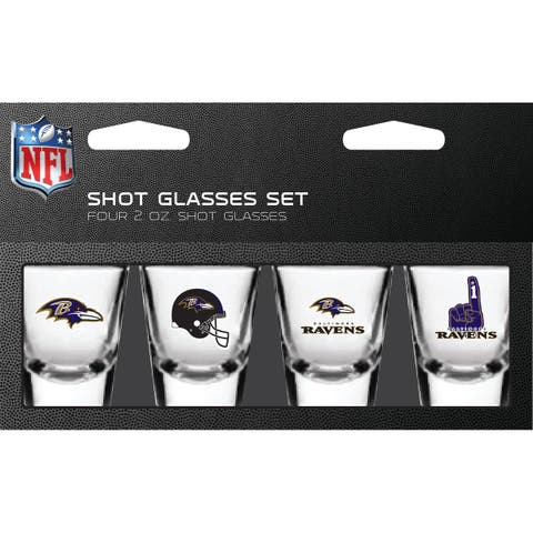 Baltimore Ravens Shot Glass 2oz 4 Pack