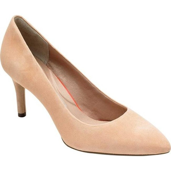 8c91c0807ba Rockport Women's Total Motion 75mm Pointed Toe Pump Dusty Peach Leather
