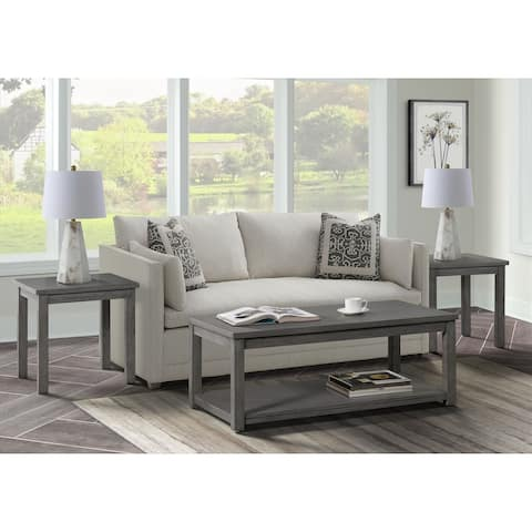 Picket House Furnishings Rhys Occasional Table Set in Gray