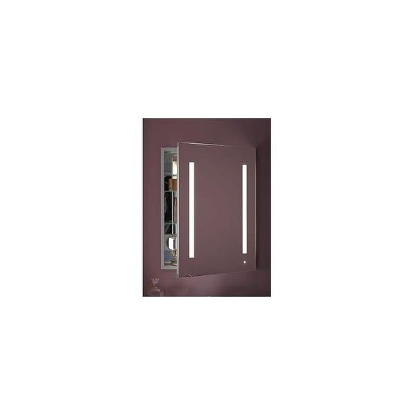 "Robern AC2430D4P1R AiO 24"" x 30"" x 4"" Single Door Medicine Cabinet with Right Hinge, Task Lighting, and Interior Illumination"