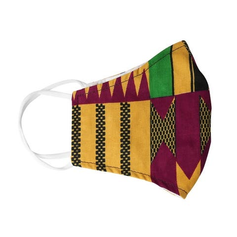 Urban Ethnic African Print Face Mask Reusable Nose Clip Filter Pocket
