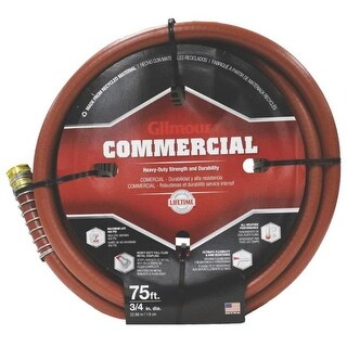 """Gilmour 25-34075 6 Ply Commercial Hose, 3/4"""" x 75'"""