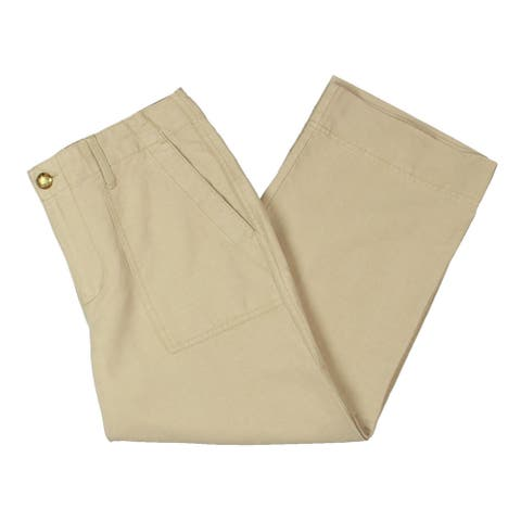 Lauren Ralph Lauren Womens Petites Nyusha Straight Leg Pants Tencel Blend - Tan - 4P