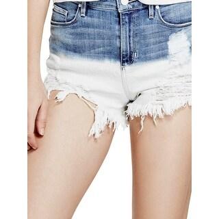 Guess Womens Denim Shorts Denim Frayed Hem