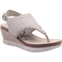 b7377ccf4 Shop OTBT Women s Meditate Thong Sandal Silver Leather - Free ...