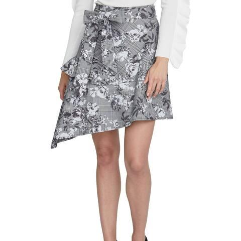 Rachel Rachel Roy Bailen Asymmetrical Skirt Grey Combo