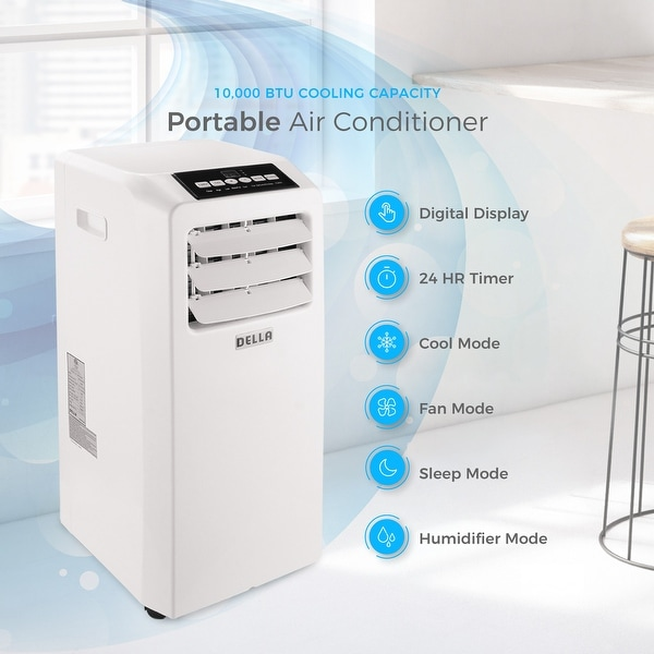 Della Air Conditioner Cooling Fan 10000 Btu Portable Dehumidifier A C Remote Control Included Window