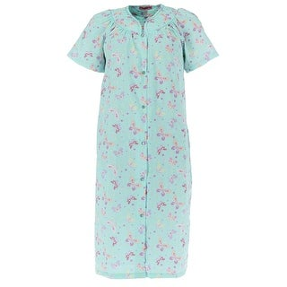 5 More Minutes Women's Short Sleeve Floral Duster Robe