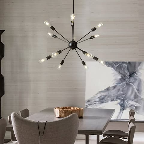 12-Lights Interior Modern Sputnik Sphere Chandelier Indoor Lighting