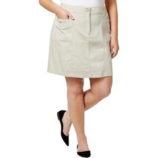 Karen Scott Womens Plus Skort Knee-Length Casual