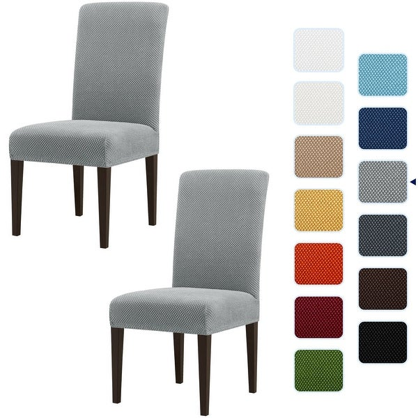 Subrtex 4 PCS Stretch Dining Chair Slipcover Textured Grain Cover. Opens flyout.
