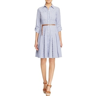 MICHAEL Michael Kors Womens Casual Dress Striped Pleated