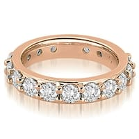 3.40 cttw. 14K Rose Gold Round Diamond Eternity Ring