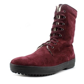 Tod's Stival.Fod. +Sott.Montone W. Gommini Round Toe Suede Mid Calf Boot