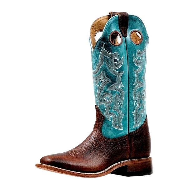 Boulet Western Boots Womens Wide Square Rider Bisonte Whisky