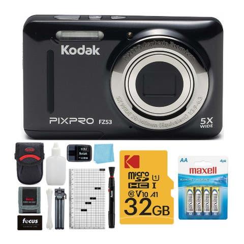Kodak PIXPRO Friendly Zoom FZ53 Digital Camera (Black) Bundle