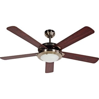 "Design House 154336 Eastport 52"" 5 Blade Hanging Ceiling Fan - satin nickel"