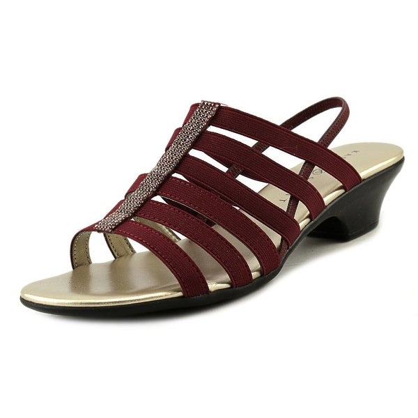 Karen Scott Estevee Women Burgundy Sandals