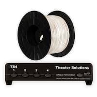 Theater Solutions TS4 Four Zone Speaker Selector Box and 100' of C100-16-4 Wire