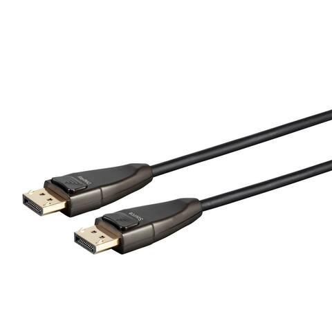 Monoprice DisplayPort Cable - 75 feet 32.4Gbps, 8K@30Hz, 5K@60Hz, 4K@120Hz, Fiber Optic, AOC - SlimRun AV Series