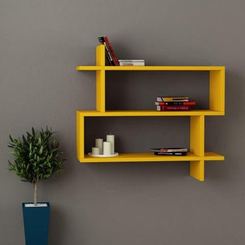 Westcott Modern Wall Shelf 27.5'' x 26'' x 8.5'' / Wall Storage / Shelving Unit