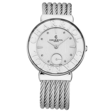 Charriol Women's ST30SC.560.017 'St Tropez' Mother of Pearl Dial Stainless Steel Swiss Quartz Watch