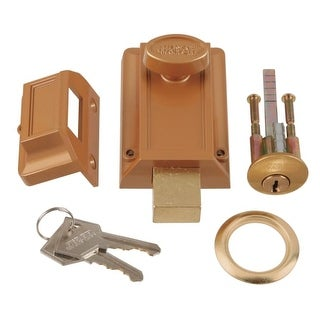 First Watch 1110 Single Cylinder Night Bolt and Locking Cylinder - Polished brass