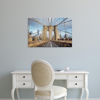 Easy Art Prints Alan Blaustein's 'Brooklyn Bridge' Premium Canvas Art