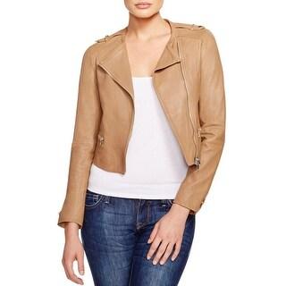 Joie Womens Odina Jacket Lamb Leather Long Sleeves